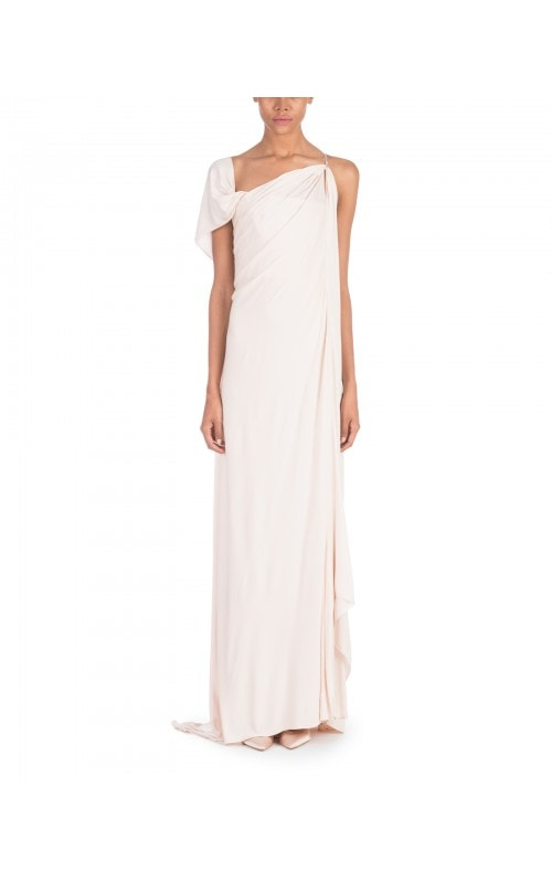 Fluid Pale Pink Column Gown