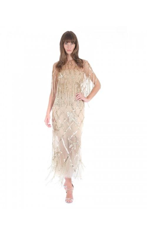 Tulle Sequin Fish Motif Dress