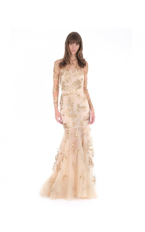 Tulle Hand Painted Gown