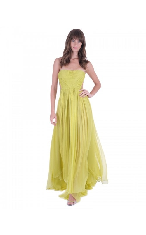 Allar Pleated Bustier Gown