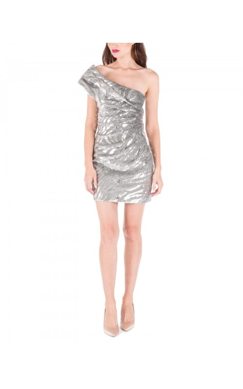 One Shoulder Sequin Mini