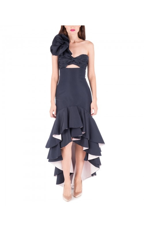 Bergamota Ruffle Shoulder Dress