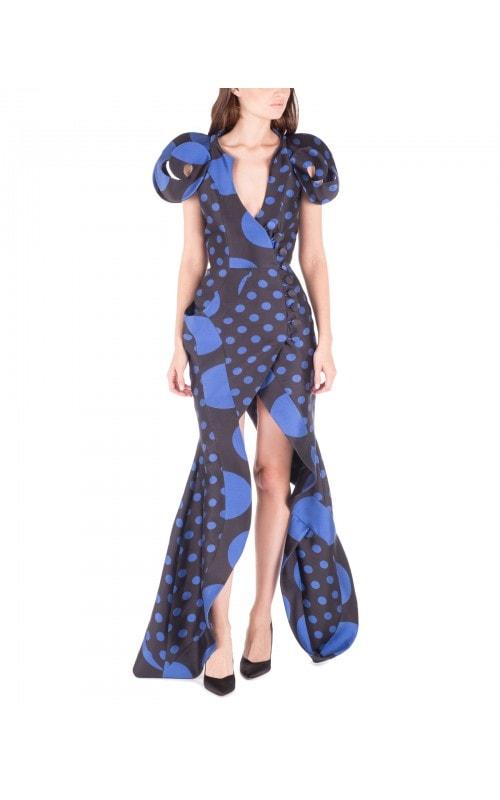 Cap Sleeve Polka Dot Dress