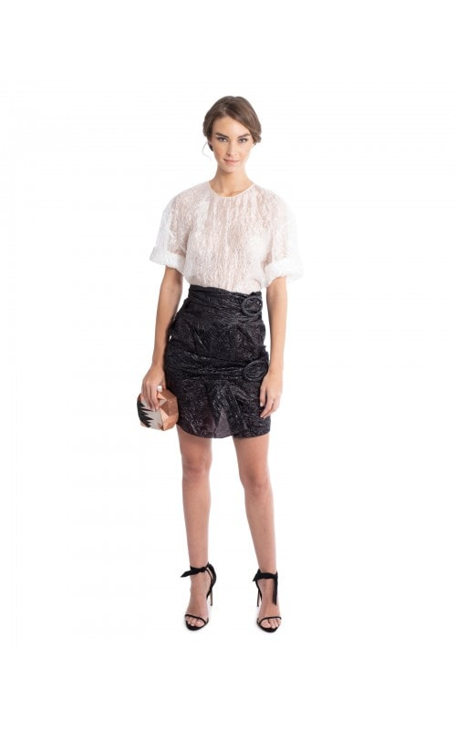 Parachute Silk Top and Skirt