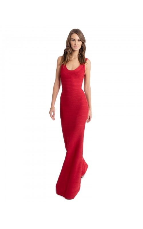 Lipstick Bandage Gown