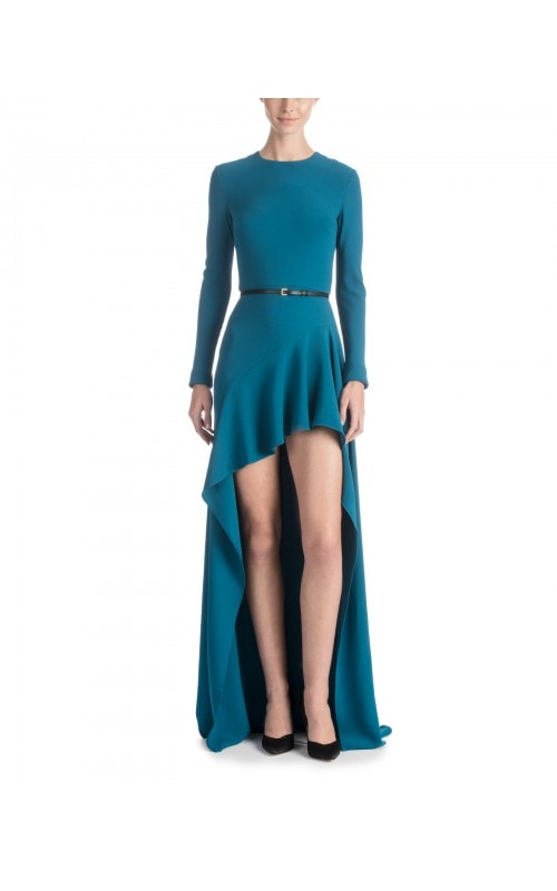 Deep Teal High Low Dress