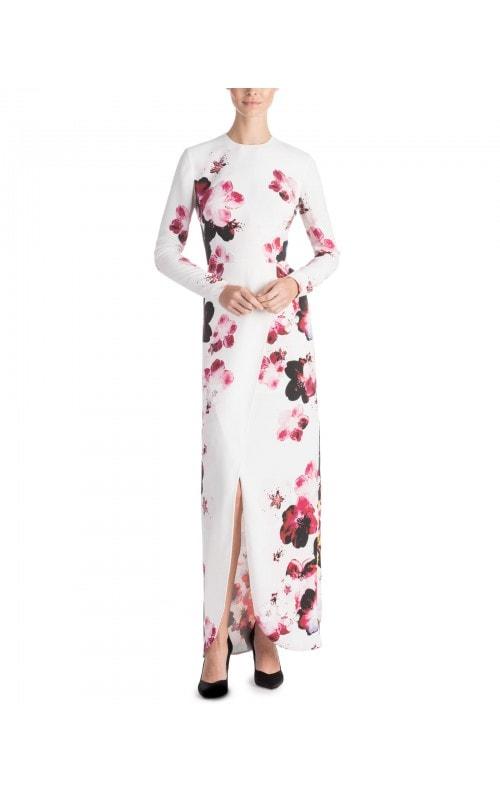 Floral Print Wrap Effect Dress