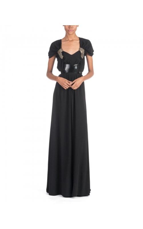 Vintage Embellished Belted Gown
