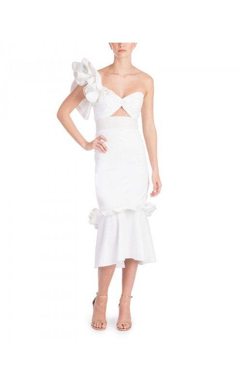Ruffle Sleeve Maloka Midi Dress