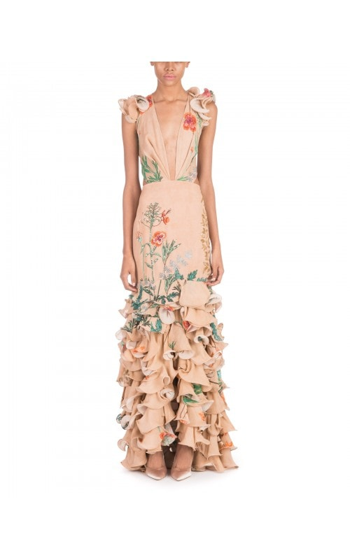 Yemanya Ruffle Gown