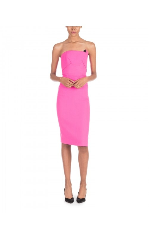 Strapless Fuchsia Pencil Dress