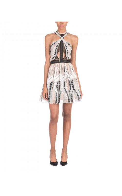 Printed Halter Mini Dress