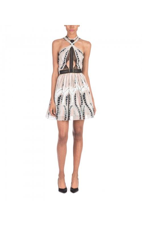 Printed Halter Mini Dress