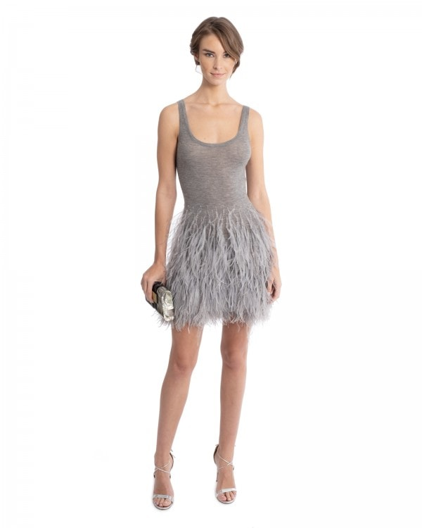 Cashmere Mini With Feathers