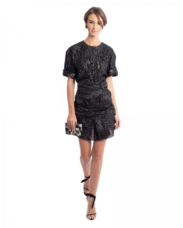 Black Parachute Top and Skirt