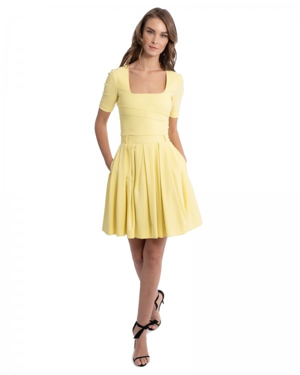 Pastel Yellow Mini Dress