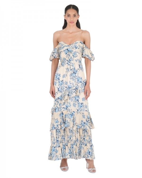 Drapes Of Solitude Georgette Dress