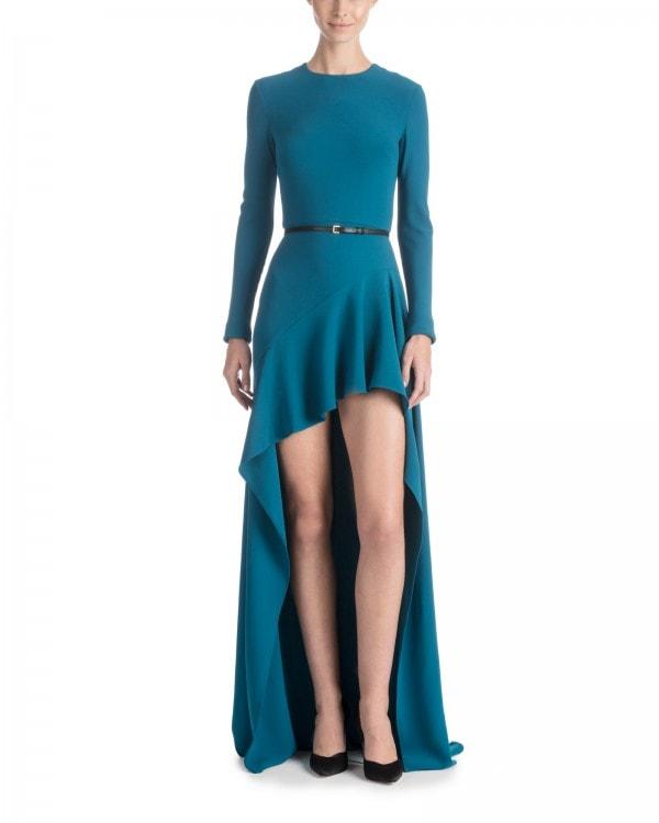 Deep Teal High Low Dress