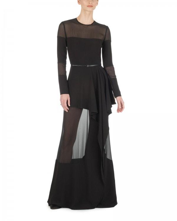 Fluid Black Sheer Insert Gown