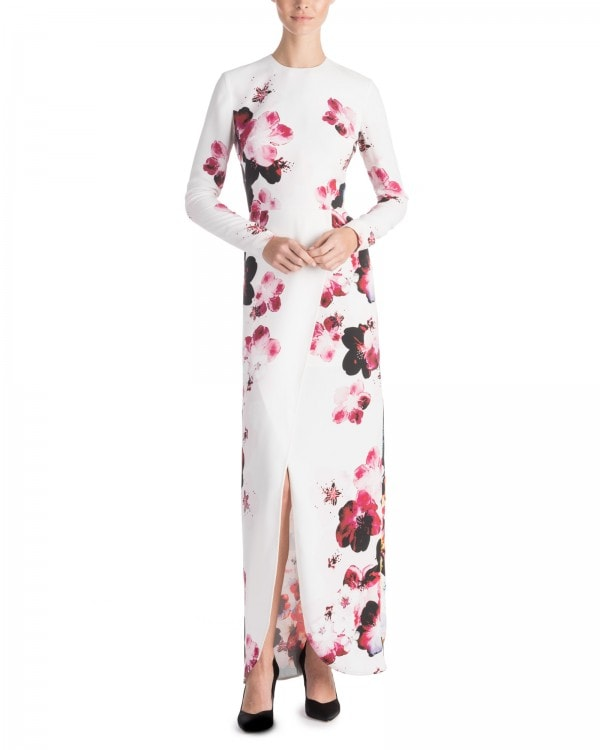 Floral Print Wrap Effect Dress