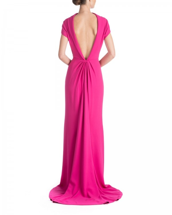 High Neck Cap Sleeve Gown