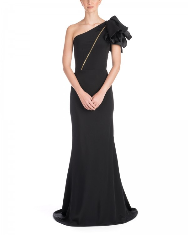 One Shoulder Fluid Satin Gown