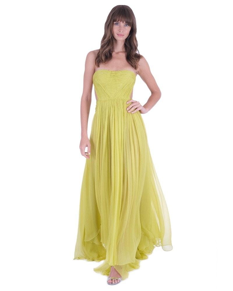 Allar Pleated Bustier Gown