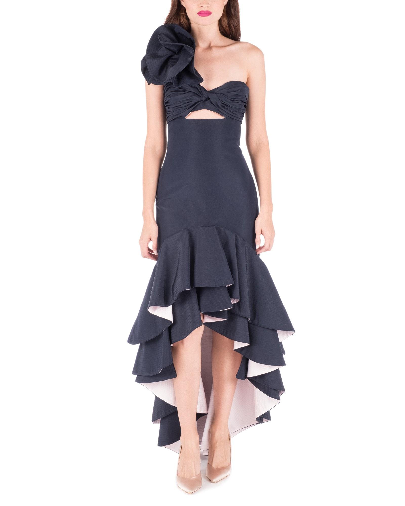 Bergamota Ruffle Shoulder Dress
