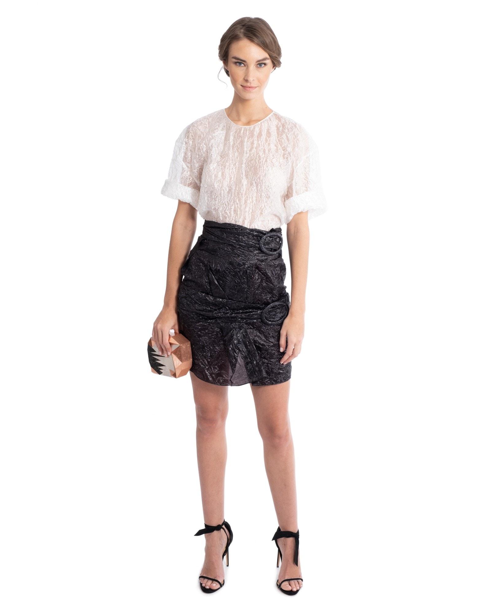 Parachute Silk Top and Skirt
