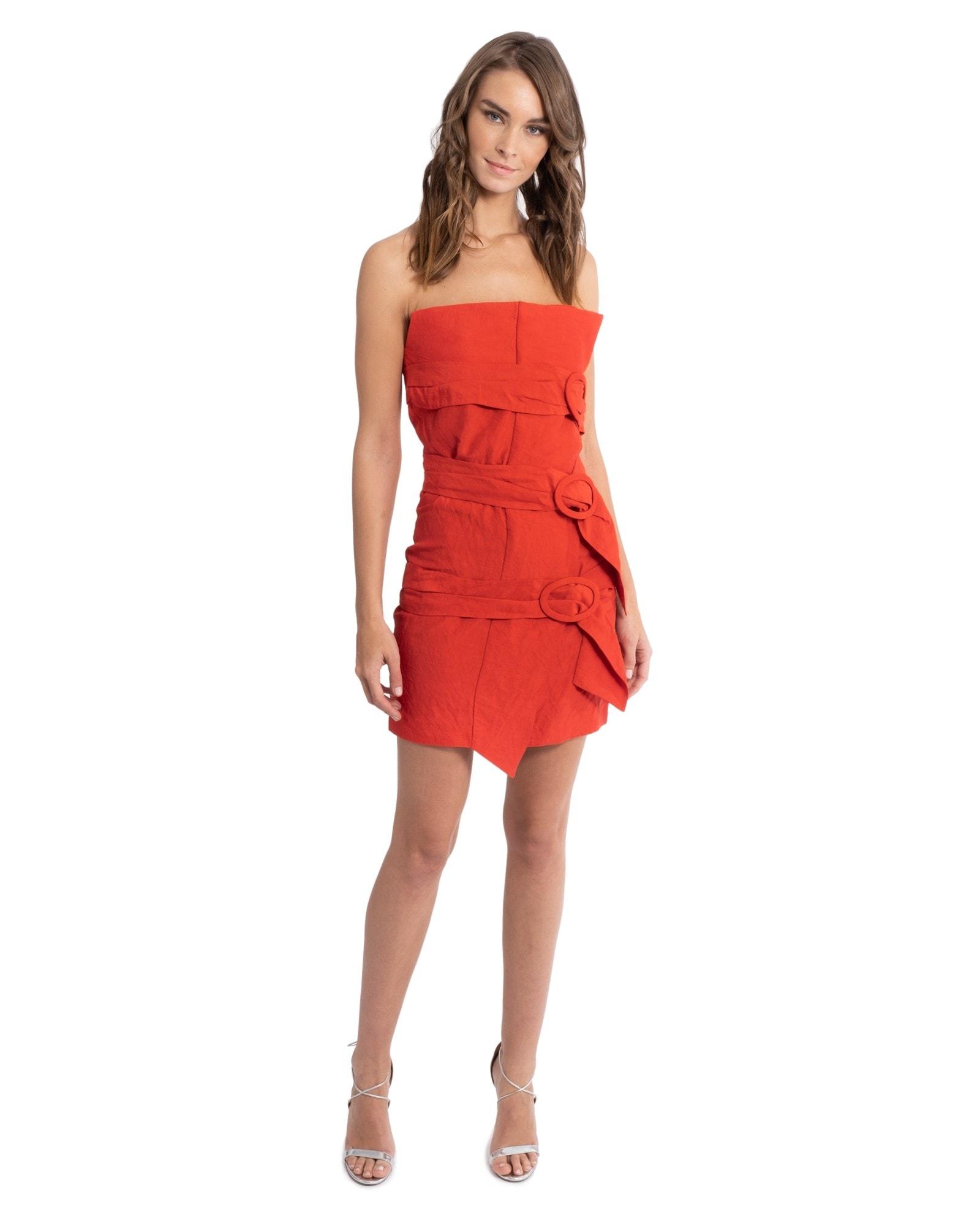 Strapless Taffeta Mini Dress