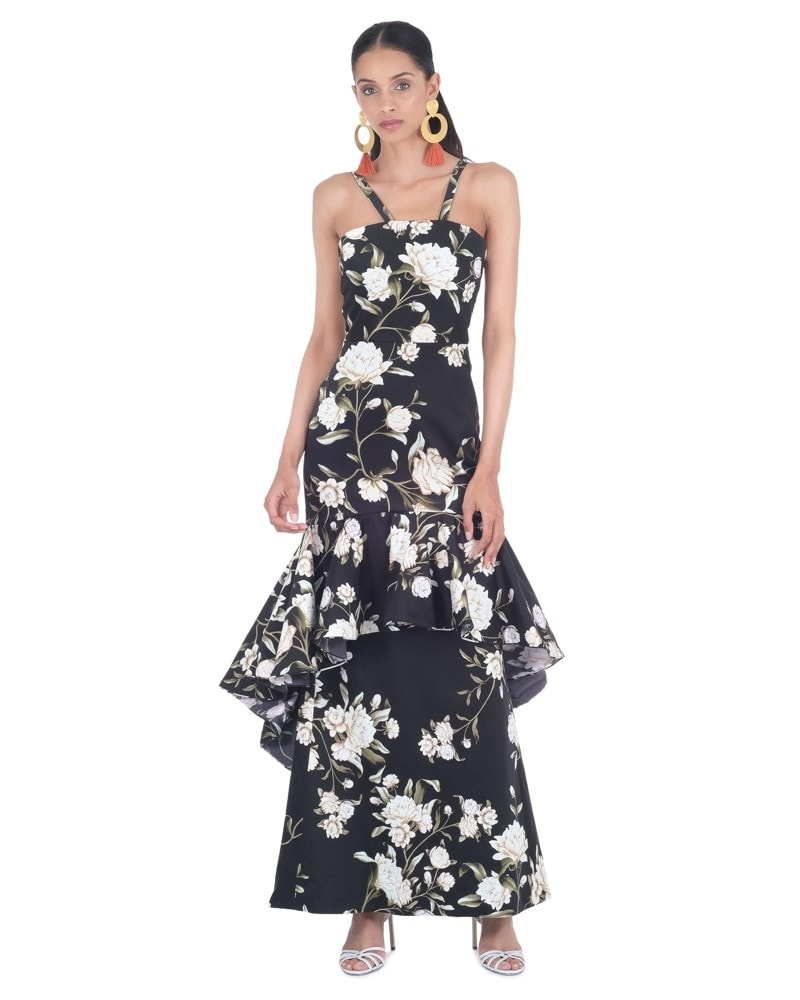 Silence of Asia Floral Dress