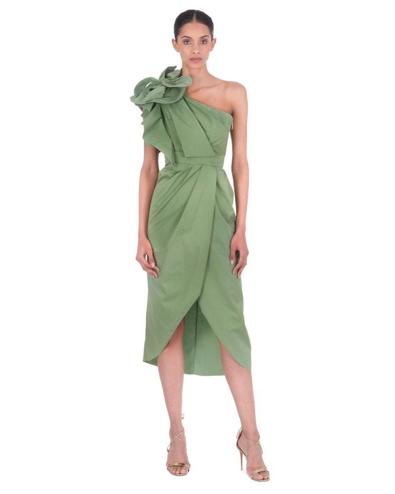 Persian Opulence One Shoulder Dress