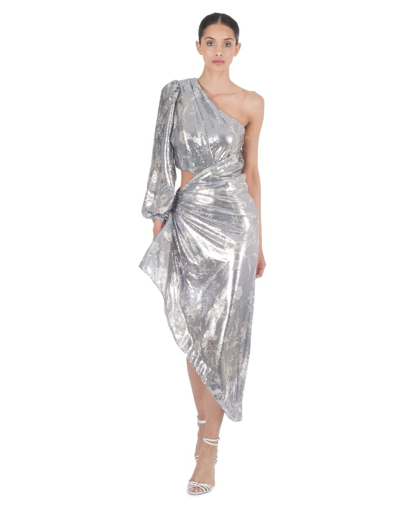 Glossy Orchid One Shoulder Dress