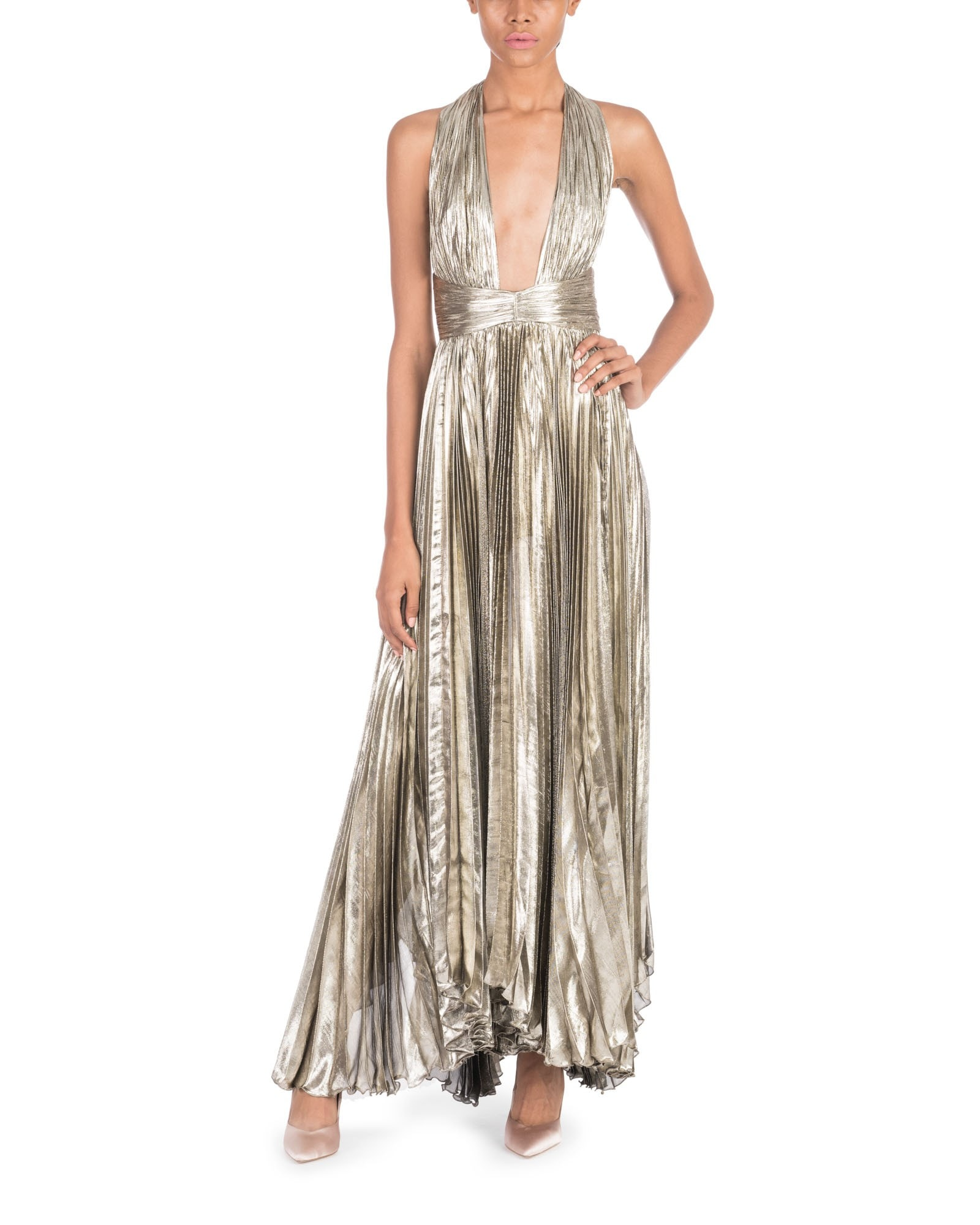 Halter Neck Metallic Adina Gown