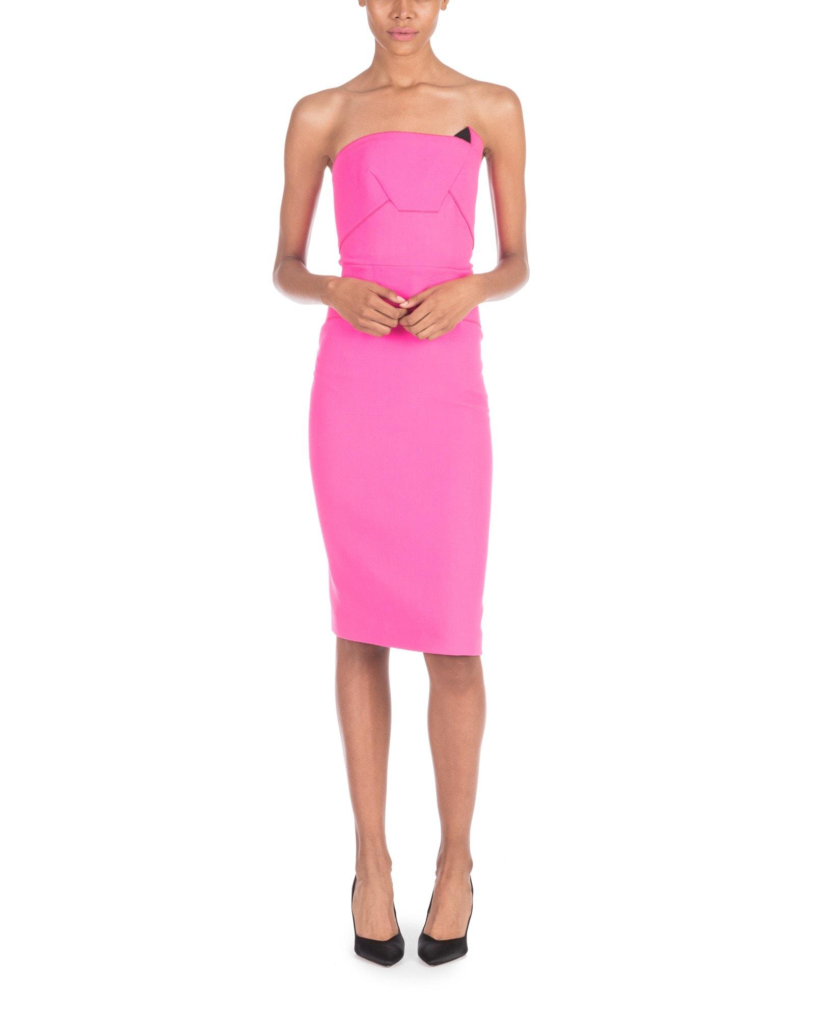 Strapless Fuchsia Pencil Dress
