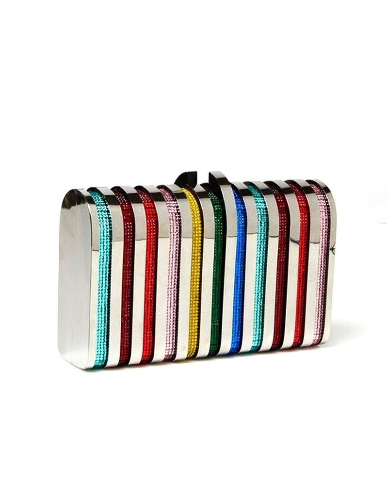 Rodeo rainbow clutch