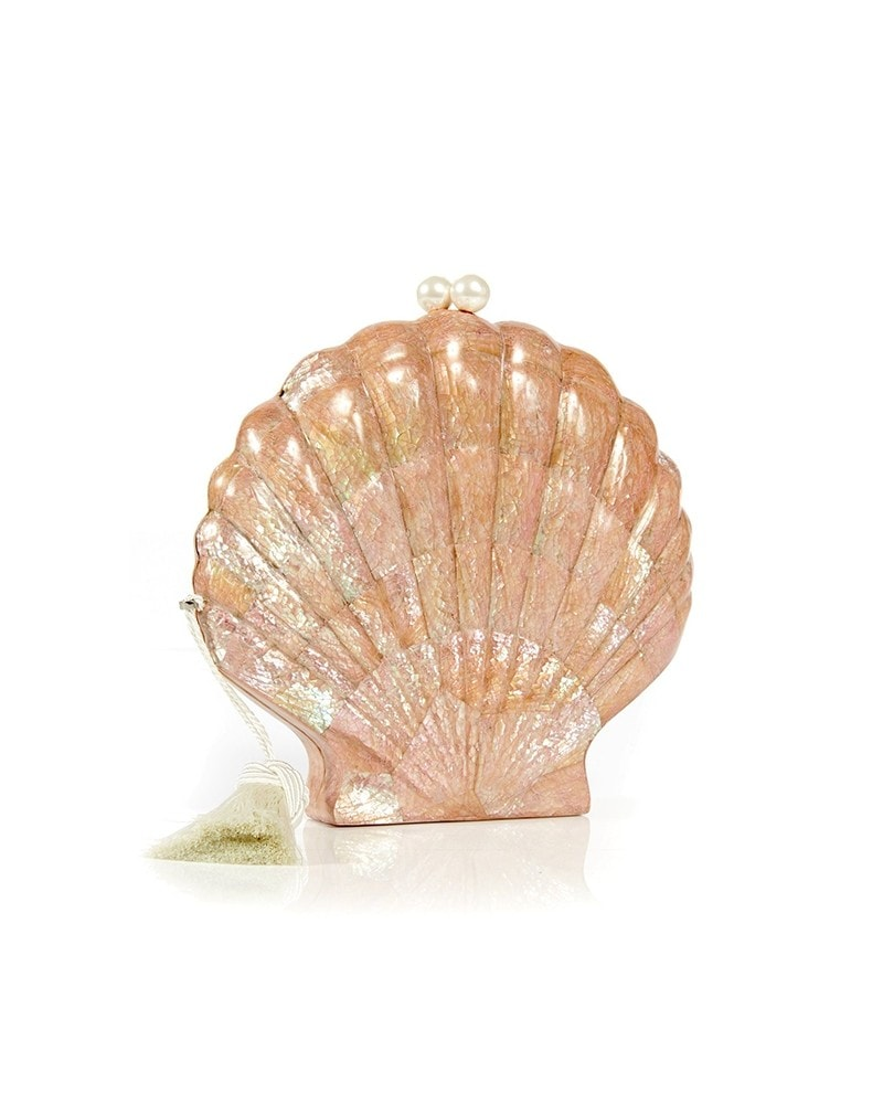 Le Sirenuse Shell Clutch