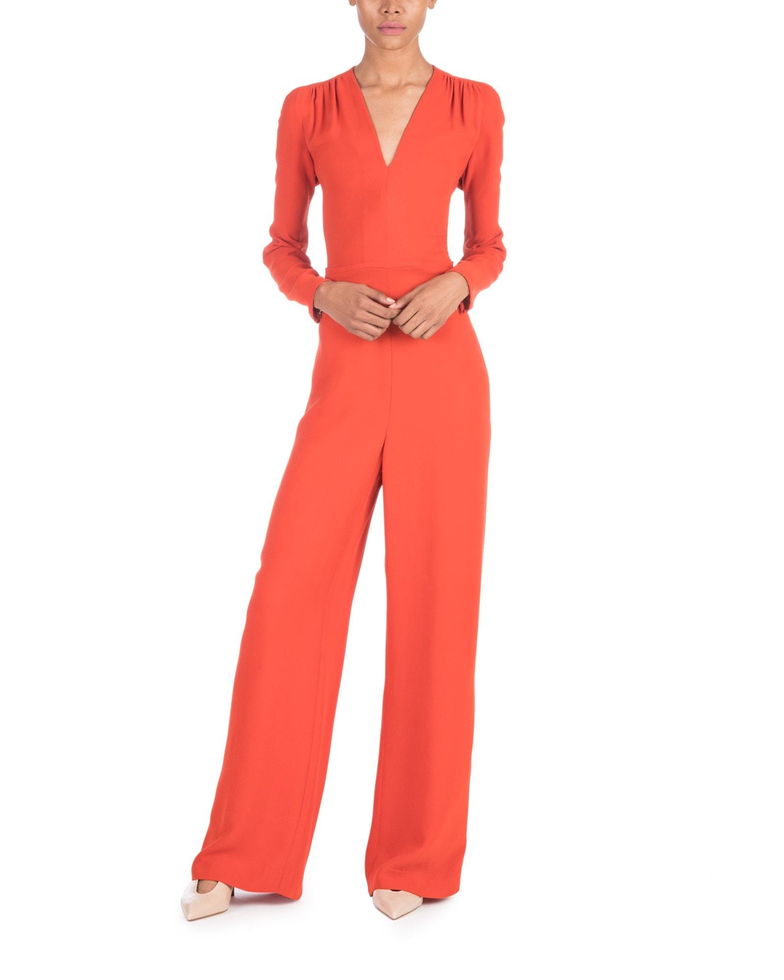 47bd5ce6214 Long Sleeve Burnt Orange Jumpsuit ...