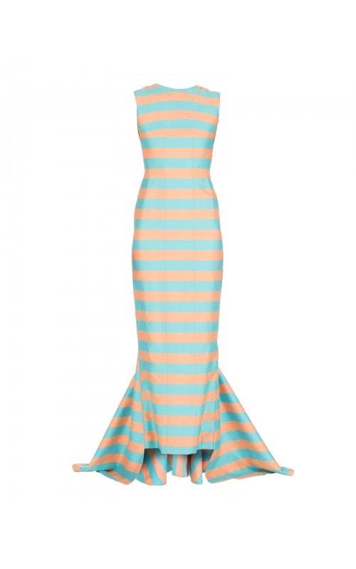 COLOR BLOCK STRIPED GOWN