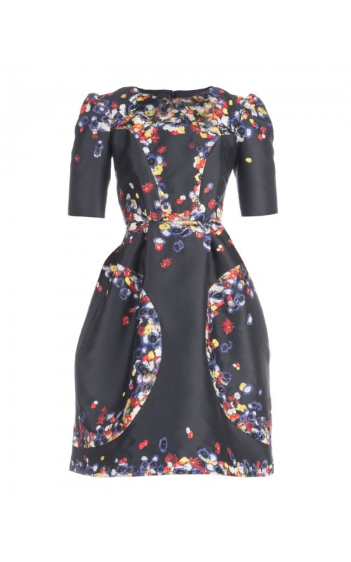 FLORAL PRINT CAP SLEEVE DRESS