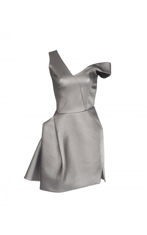 Metallic Fiction Mini Dress