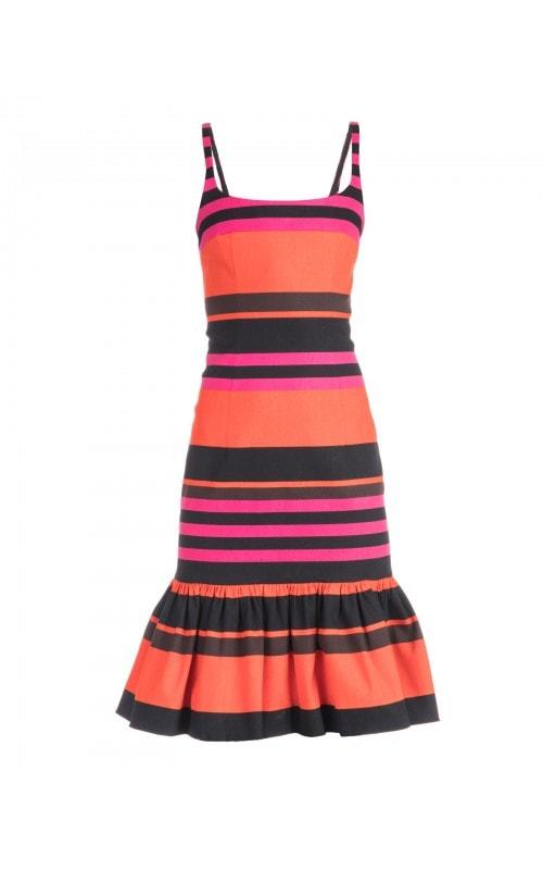 Multicolor Stripe Mini Dress