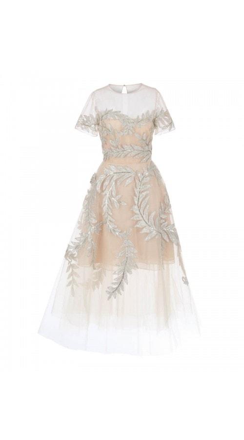 Tulle Lame Threadwork Dress