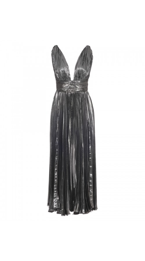 Sada Plunging Metallic Dress