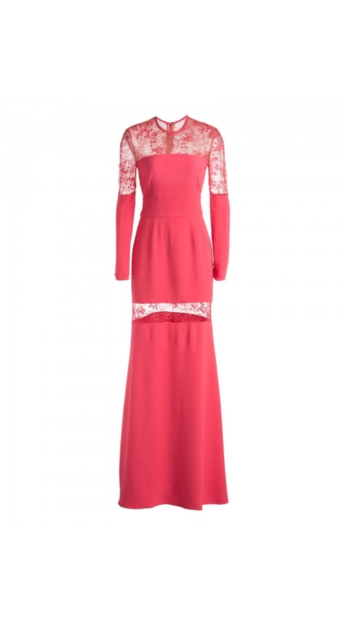 FLUID GOWN WITH LACE