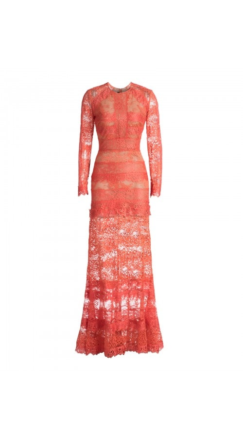 Embroidered Lace Light Coral Gown