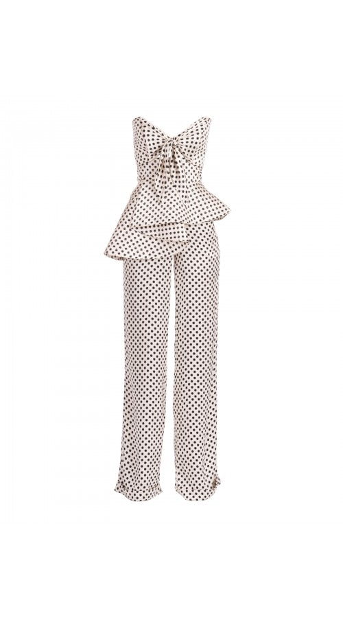 Polka Dot Bustier Top & Pants