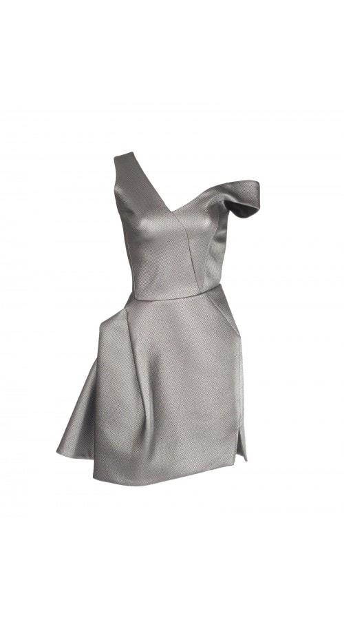 Metallic Fiction Mini Dress
