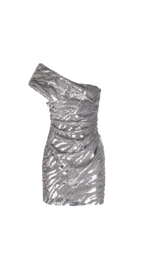 One Shoulder Sequin Mini