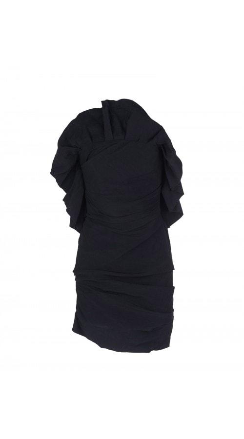 Ruffled Taffeta Mini Dress